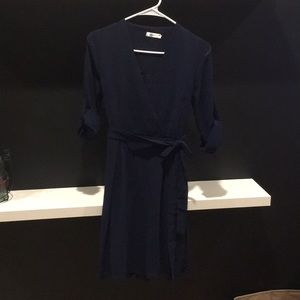 Qin Xiang Large Navy Blue Dress